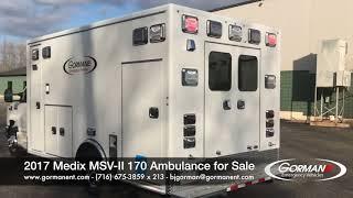 New Ambulance For Sale   Medix MSV II 170   Unit #17 M195