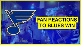 St. Louis Blues Fans Celebrating Stanley Cup Win | Raw Footage