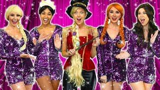 DISNEY PRINCESSES DREAM HOUSE (Jasmine, Rapunzel, Tiana, Belle, Anna and Elsa) Totally TV parody