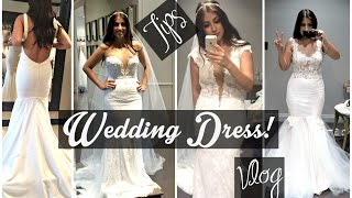 Finding my Wedding Dress Tips, Trying on Dresses Vlog, & More!