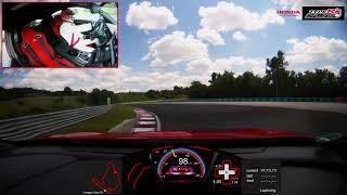 ジェンソン・バトン、HONDAシビックTYPERでハンガロリンクの市販FF車最速タイムを更新
