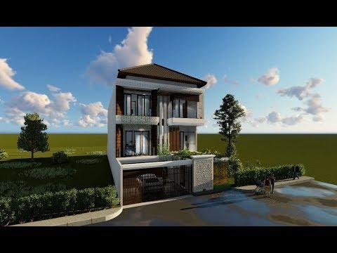 Desain Rumah 3 Lantai Luas Bangunan 430 m2 Bp Ari di Jakarta
