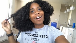 🔴Texturized My Natural Curls To Make Them Looser???   THE DEEP CONDISH *LIVESTREAM!*