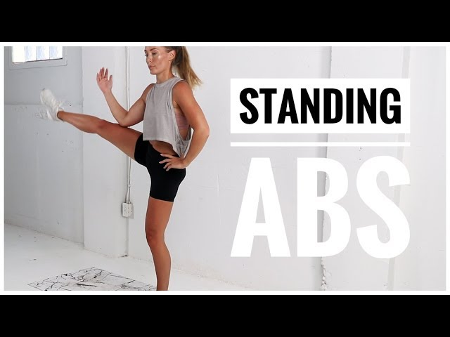 10 Minute Standing ABS WORKOUT // No Equipment
