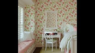 Captivating Bedrooms With Floral Wallpaper Designs