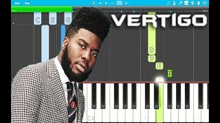 Khalid - Vertigo PIANO Tutorial EASY (SUNCITY) Piano Cover