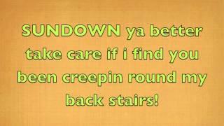 Gordon Lightfoot - Sundown (Official Lyrics)