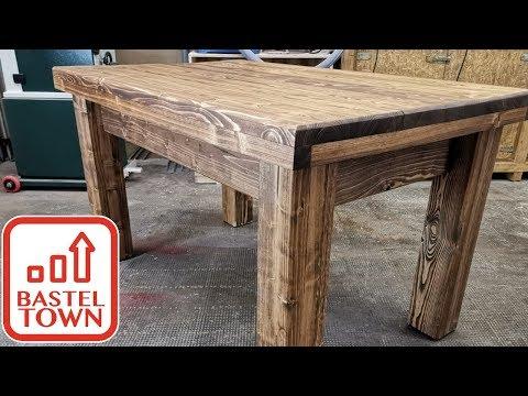 Gartentisch selber bauen: Günstiger DIY Gartentisch aus Massivholz #1 Tischplatte