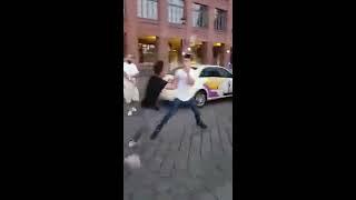 Street Fight In Berlin Knock Out  مضاربة شوارع المانيا مضاربات شوارع قويه عركة
