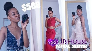 Trying On JJsHouse Prom & Homecoming Dresses! $500 WORTH