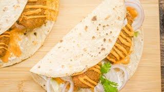 Falafel Recipe   Indian Style Falafel Wraps   Healthy Veg Cutlet Rolls   Kids Lunch Box Recipes
