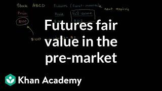 Futures fair value in the pre-market | Finance & Capital Markets | Khan Academy