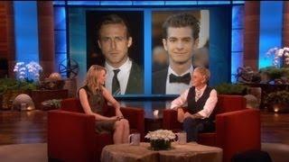 Emma Stone Kissing Ryan Gosling And Andrew Garfield