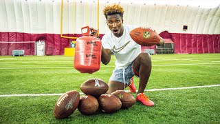 KICKING FOOTBALLS WITH HELIUM IN THEM! (INSANE TEST & RESULTS!)