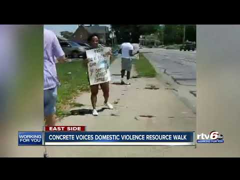 Domestic violence resource walk held on Indianapolis' east side