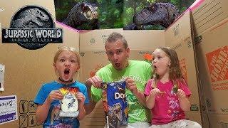 Dinosaurs in Our House! Jurassic World Blind Bag Toys Scavenger Hunt! Velociraptors!