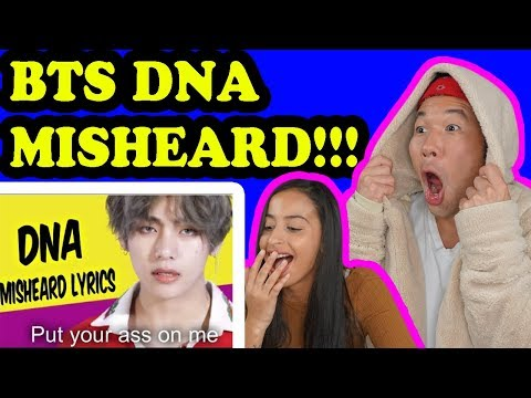 BTS TRY NOT TO LAUGH DNA Misheard Lyrics REACTION!!!