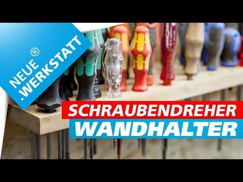 Schraubendreher Wandhalter für Werkstattwand /// French Cleat System // Selber bauen / deutsch