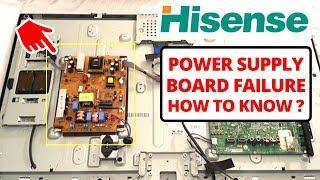 Why Hisense TV Wont turn on- Power Supply Unit Failure -Why Hisense TV Red Light Blinking