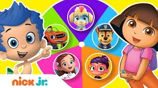 Guess the Missing Colors w/ the PAW Patrol Mighty Pups, Dora & More!🌈   Color Games   Nick Jr.