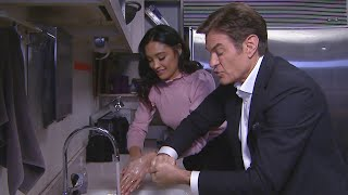 Dr. Oz Demonstrates The RIGHT Way To Wash Your Hands (Exclusive)