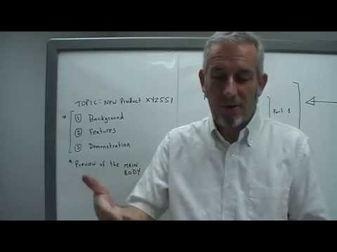 0103 Presentation Introduction stage (Part 2): Outline agenda, timing, handouts, questions