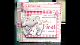 Baby's Firsts Girl Mini Album of Milestones Tutorial | Nitwit Collections™