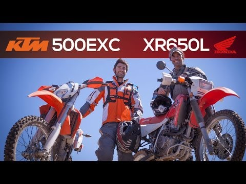 KTM 500EXC and Honda XR650L – MotoGeo Review