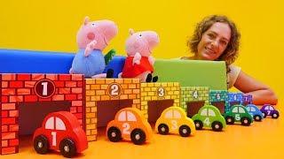 Zahlen und Farben lernen mit Peppa . Peppa Wutz auf Deutsch