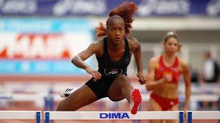 Saint-Brieuc 2020 : Finale 60 m haies Espoirs F (Cyréna Samba-Mayela en 7''98)
