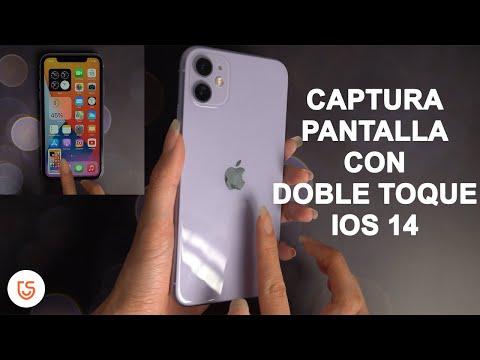 hacer captura de pantalla con doble toque en ios 14