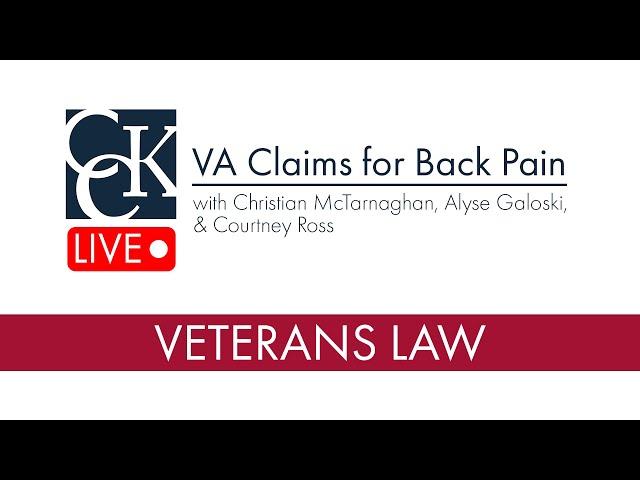 VA Disability for Back Pain