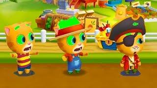ТОМ ЗА ЗОЛОТОМ ФЕРМЕР ДЖИНДЖЕР #24 АНДЖЕЛА ДРУЗЬЯ Talking Tom Gold Run мультик игра для детей