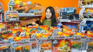 Learn Dinosaur names with Jurassic World  figures Toys - T-rex,indoraptor,triceratops