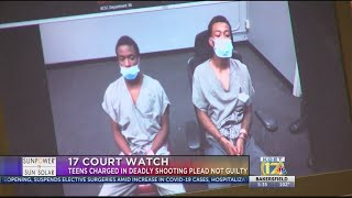 Teens Charged in Deadly Shooting Plead Not Guilty