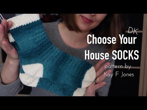 Choose Your House Socks pattern by Kay F Jones ❤︎ finished object ❤︎ knitting ILove