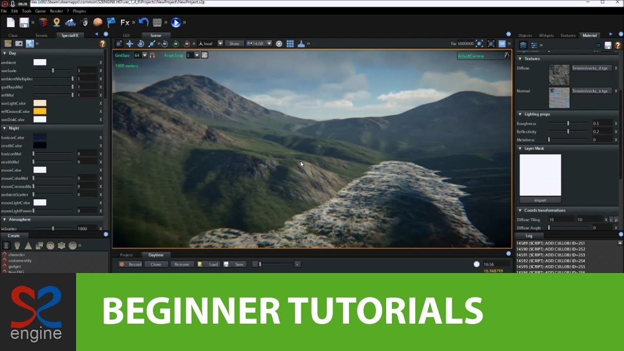 S2ENGINE FOR BEGINNERS - Terrain Base Material Part 1