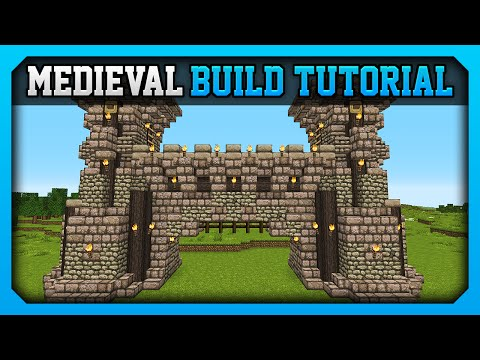 Medieval Castle Wall Entrance Minecraft Map