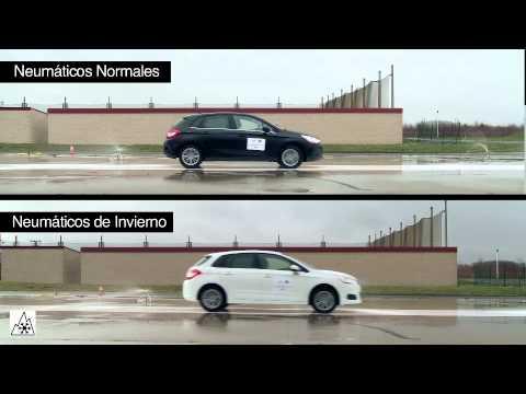 COMPARATIVA TRACCIÓN NEUMATICOS INVIERNO VS ESTANDAR