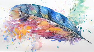 Whimsical Watercolor Feather Tutorial
