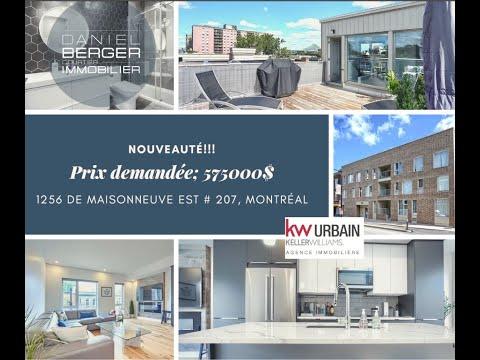 0:18 / 4:01  Bienvenue dans notre visite virtuelle du 1256 de Maisonneuve Est # 207, Montréal