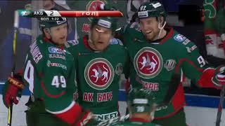 Обзор матча АкБарс ЦСКА 1, 2  период