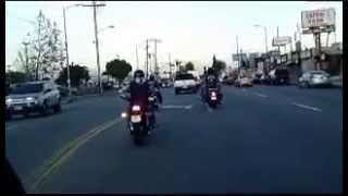 Riding to the Molochs MC and Marine MC Bike NIght, Apr 2013