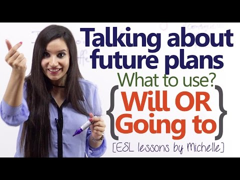 'Will' or 'Going to' - Talking about Future plans - (English Grammar Lesson)
