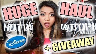 HUGE DISNEY HOT TOPIC HAUL AND GIVEAWAY! ** CLOSED** | ChynnaRaymundoTV