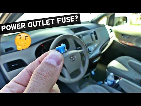 Toyota Sienna 12v Outlet Cigarette Lighter Fuse Mp3
