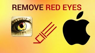How to remove red eyes from photo on iPhone and iPad