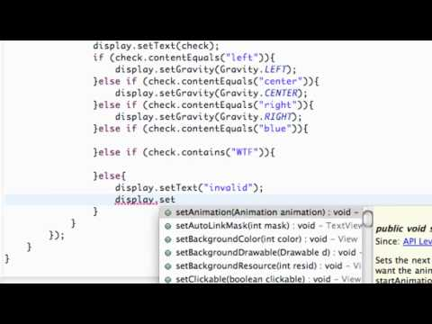 Android Application Development Tutorial - 30 - Setting Color of a TextView in Java