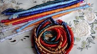 Спиральки из атласных лент. Варка и запекание
