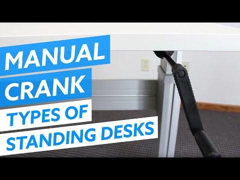 Types of Standing Desks - Manual Crank Adjustable Desks